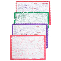 Hoffmaster 326191 10 inch x 14 inch Kids Color Me Design Placemat   - 1000/Case