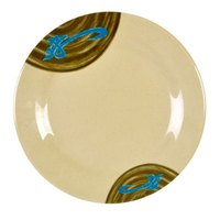 Wei 10 3/8 inch Round Melamine Plate - 12/Pack