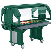 Cambro VBRHD6519 Green 6' Versa Food / Salad Bar with Heavy Duty Casters