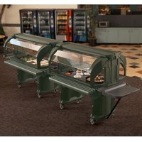 Cambro VBRHD6519 Green 6' Versa Food / Salad Bar with Heavy Duty Casters
