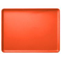 Carlisle 1216LFG018 Customizable 12 inch x 16 inch Glasteel Orange Dietary Fiberglass Tray - 12/Case
