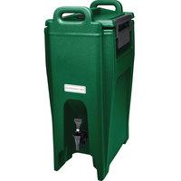 Cambro UC500519 Ultra Camtainers® 5.25 Gallon Kentucky Green Insulated Beverage Dispenser