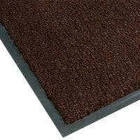 Notrax T37 Atlantic Olefin 4468-173 2' x 3' Dark Toast Carpet Entrance Floor Mat - 3/8 inch Thick