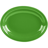 Homer Laughlin 457324 Fiesta Shamrock 11 5/8 inch x 8 7/8 inch Oval Medium China Platter - 12/Case