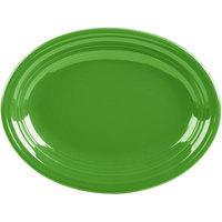 Homer Laughlin 457324 Fiesta Shamrock 11 5/8 inch Medium Oval Platter   - 12/Case