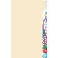 8 1/2 inch x 11 inch Menu Paper - Wine Themed Bottle Design Right Insert - 100/Pack