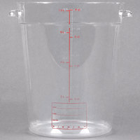 Carlisle 1076607 8 Qt. Clear Round StorPlus Container
