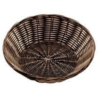 Tablecraft 1475 8 1/2 inch x 2 1/4 inch Brown Round Rattan Basket - 12/Pack