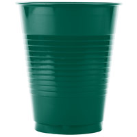Creative Converting 28312481 16 oz. Hunter Green Plastic Cup - 20 / Pack