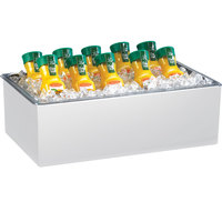 Cal-Mil 475-10-15 White Melamine Ice Housing with Clear Pan - 12 inch x 10 inch x 6 inch