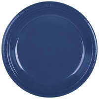Creative Converting 28113731 10 inch Navy Blue Plastic Plate - 240 / Case