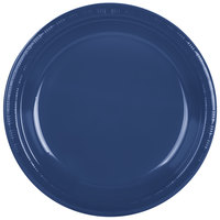 "Creative Converting 28113731 10"" Navy Blue Plastic Plate - 240/Case"