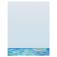 8 1/2 inch x 11 inch Menu Paper - Mediterranean Themed Venice Design Middle Insert - 100/Pack
