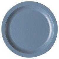 Cambro 725CWNR401 Camwear 7 1/4 inch Slate Blue Polycarbonate Narrow Rim Plate - 48/Case