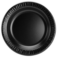 Dart 10PBQR Quiet Classic 10 1/4 inch Black Laminated Round Foam Plate - 125/Pack