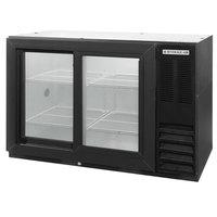 Beverage-Air BB48GSY-1-BK-LED-WINE 48 inch Black Back Bar Wine Series Refrigerator - Narrow Depth, 2 Sliding Glass Doors