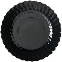 Fineline Flairware 210-BK 10 1/4 inch Black Plastic Plate - 144/Case