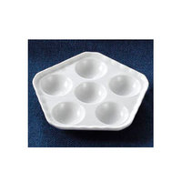 CAC ESD-5 White Escargot Dish 5 1/2 inch - 36/Case