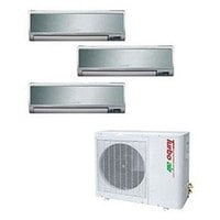 Turbo Air 30,000 BTU Ductless Wall Mounted Multi-Zone Air Conditioner / Heat Pump with Three Indoor Evaporators