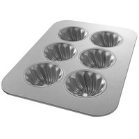Chicago Metallic 26300 6 Cup 6.1 oz. Customizable Mini-Swirl Cake Pan - 11 1/8 inch x 15 3/4 inch