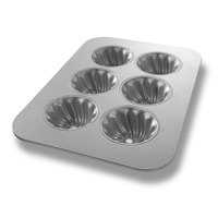 Chicago Metallic 26300 6 Cup 6.1 oz. Mini-Swirl Cake Pan - 11 1/8 inch x 15 3/4 inch
