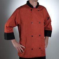 Chef Revival J134SP-XL Cool Crew Fresh Size 48 (XL) Spice Orange Customizable Chef Jacket with 3/4 Sleeves - Poly-Cotton