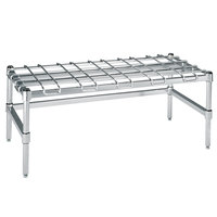 Metro HDP56S 24 inch x 60 inch x 16 1/4 inch Super Heavy Duty Stainless Steel Dunnage Rack with Wire Mat - 2400 lb. Capacity