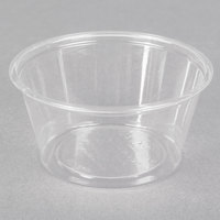 Fabri-Kal Greenware GPC200 2 oz. Customizable Compostable Clear Plastic Souffle / Portion Cup   - 200/Pack
