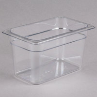 Cambro 46CW135 Camwear 1/4 Size Clear Polycarbonate Food Pan - 6 inch Deep