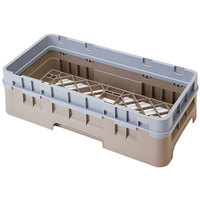 Cambro HBR414184 Beige Camrack Half Size Open Base Rack with 1 Extender