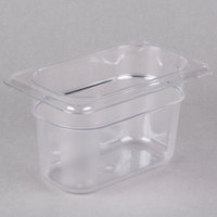 Cambro 94CW135 Camwear 1/9 Size Clear Polycarbonate Food Pan - 4 inch Deep