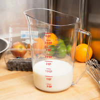 Cambro 400MCCW135 Camwear 4 Qt. Clear Measuring Cup