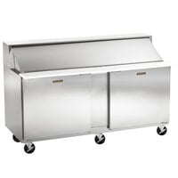 Traulsen UPT6024-LR 60 inch 1 Left Hinged 1 Right Hinged Door Refrigerated Sandwich Prep Table