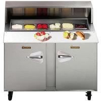 "Traulsen UPT6024-LR 60"" Sandwich / Salad Prep Refrigerator with Left / Right Hinged Doors"