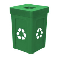 Green Stacking Flat Lid Recycle Bin - 48 Gallon