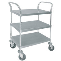 Advance Tabco UC-3-1827 Stainless Steel 3 Shelf Utility Cart - 34 1/2 inch x 18 inch x 38 1/8 inch