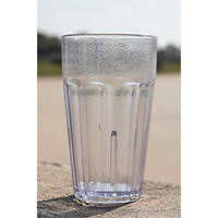 GET 9921-1-CL 20 oz. Clear Break-Resistant Plastic Textured Bahama Tumbler - 72 / Case