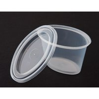 Newspring E506 ELLIPSO 6 oz. Oval Plastic Souffle / Portion Cup with Lid 500/Case