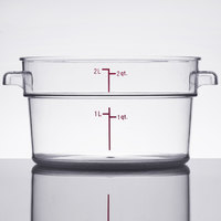 2 Qt. Clear Round Food Storage Container