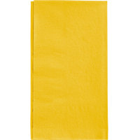"Sunny Yellow Paper Dinner Napkin, Choice 2-Ply, 15"" x 17"" - 125/Pack"