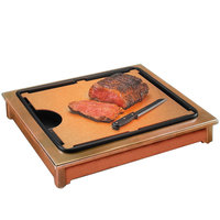 Cal-Mil 810-53 Cut-Mate Carving Station Kit with Light Wood Frame, Drip Tray, and Cutting Board