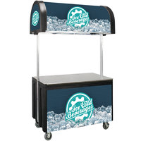 IRP Vending Cart with Canopy - 59 1/4 inch x 30 inch x 98 inch