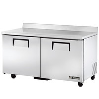 True TWT-60F 60 inch Two Door Worktop Freezer - 15.5 cu. ft.