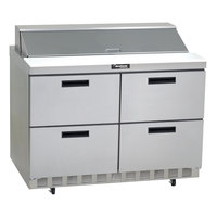 Delfield D4448N-18M 48 inch 4 Drawer Mega Top Refrigerated Sandwich Prep Table