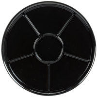 WNA Comet A926BL Checkmate 16 inch Black Round 6 Compartment Catering Tray   - 25/Case