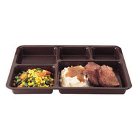 Cambro 1411CP167 14 3/8 inch x 10 9/16 inch Brown Tray on Tray Base Tray - 24/Case