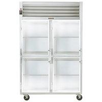 Traulsen G21003 2 Section Glass Half Door Reach In Refrigerator - Left / Left Hinged Doors