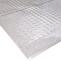 Cactus Mat 3545R-4 Gripper 4' Wide Clear Vinyl Carpet Protection Runner Mat - 1/16 inch Thick