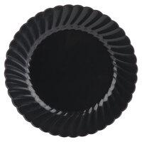 WNA Comet Classicware EcoSense 7 1/2 inch Biodegradable Black Plastic Plate - 180/Case