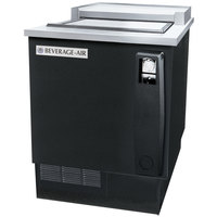 Beverage Air SF34-B Black Bottle Cooler Shallow Well - 35 inch